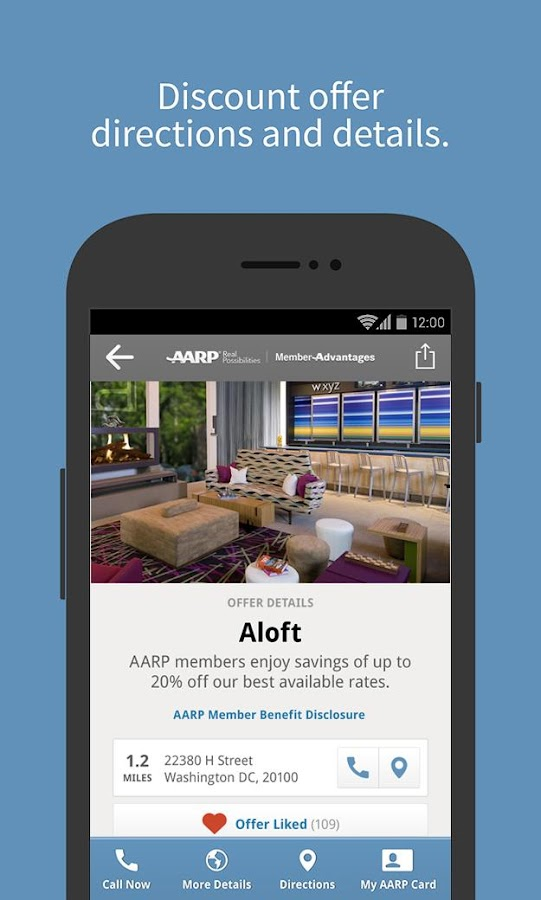 AARP Member Advantages – Screenshot