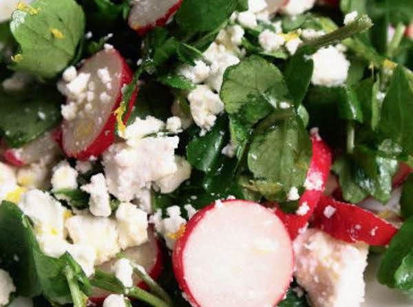 Mom's Watercress, Radish, And Feta Salad Recipe