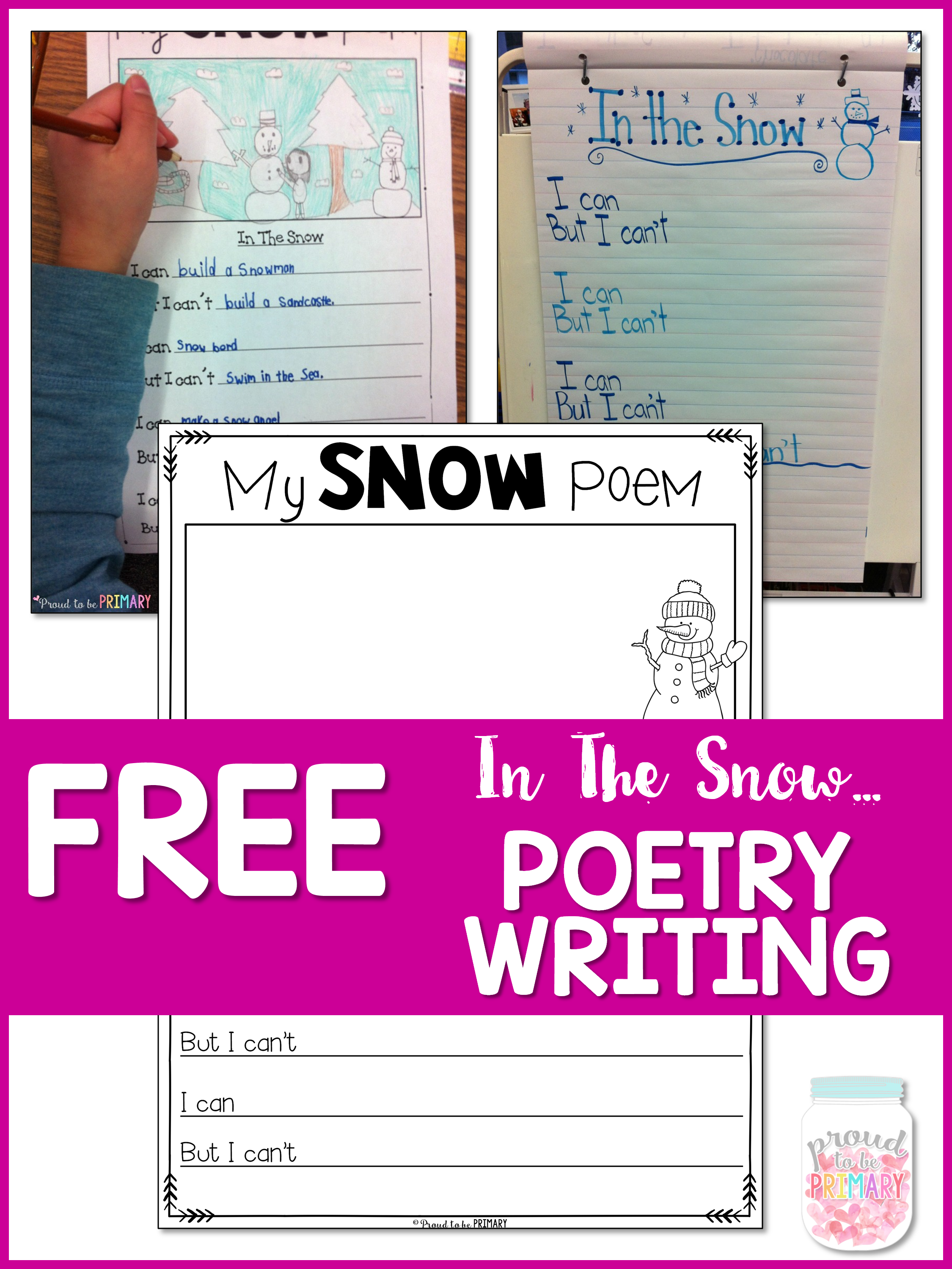 Snow Poetry: Winter Writing in the Snow - free snow poem template