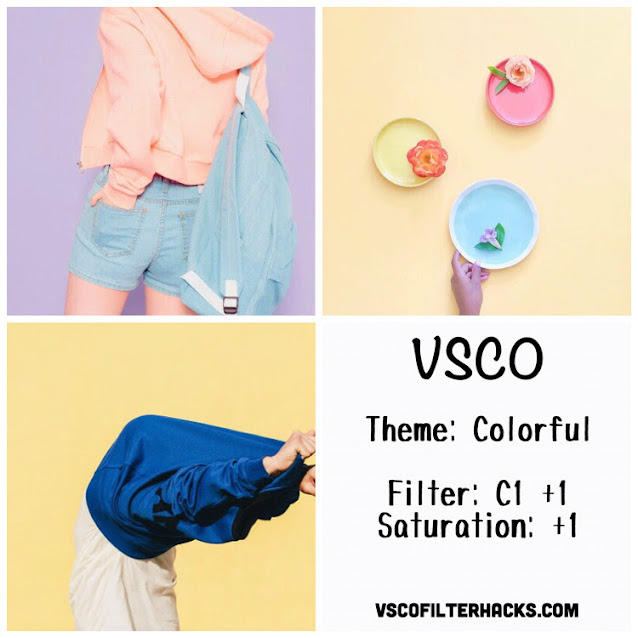 Colorful Instagram Feed Using VSCO Filter C1