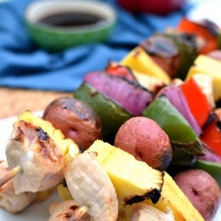 Hawaiian Grilled Chicken Kabobs