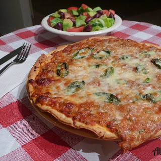 All OUr Way Easy No Cook Pizza Sauce with Fresh Basil.