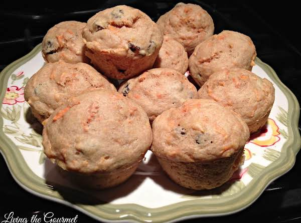 """light"" Carrot And Raisin Breakfast Muffins"