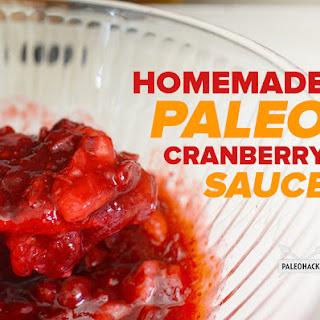 Homemade Paleo Cranberry Sauce