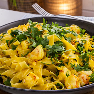 Prawn, Prosecco, Saffron and Butter Tagliatelle Recipe