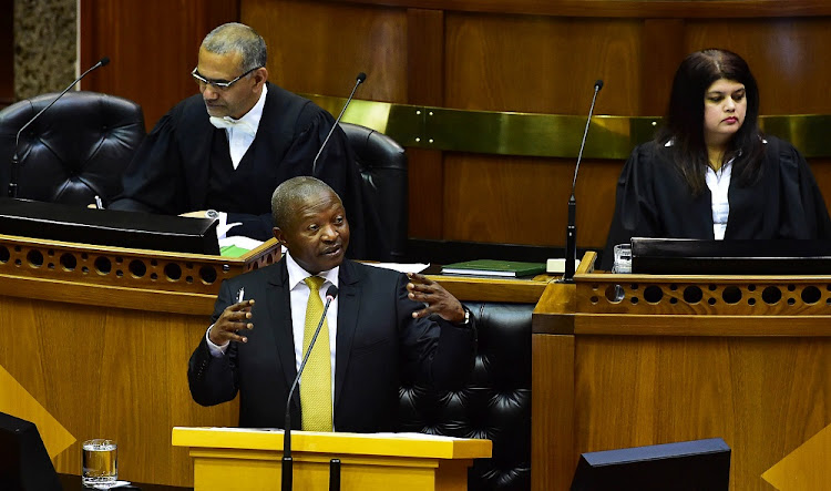 Deputy President David Mabuza in Parliament, Cape Town.