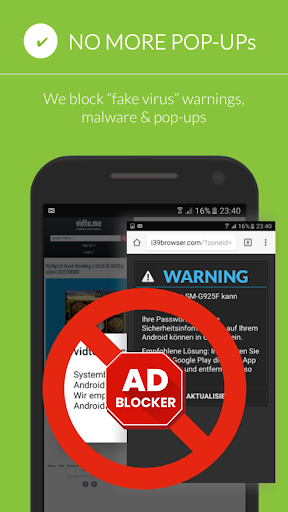 Free Adblocker Browser - Adblock & Popup Blocker 64.0.2016123109 screenshots 2