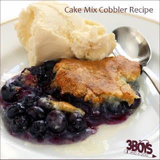 Blueberry Cake Mix Cobbler.