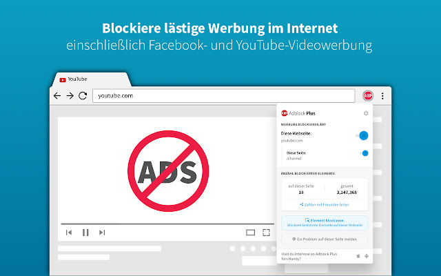 Adblock Plus - kostenloser Adblocker Screenshot