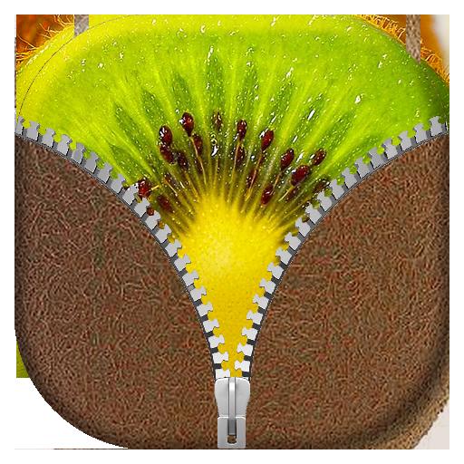 个人化のフルーツ ジッパー画面ロック LOGO-記事Game