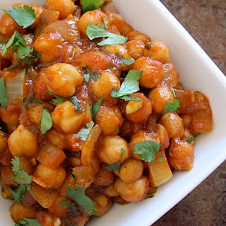 Quick Curried Chick Peas Recipe