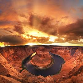 Canyonscape by Craig Bill - Landscapes Sunsets & Sunrises ( canyon, arizona, sunset, sun )