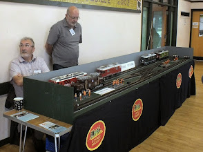 Photo: 012 The largest models of the day were these fantastic wallet-busting models in G Scale displayed by Roger Trim .