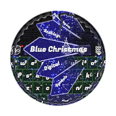 Blue Christmas GO Keyboard