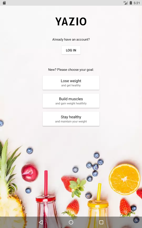YAZIO Calorie Counter, Nutrition Diary & Diet Plan- screenshot