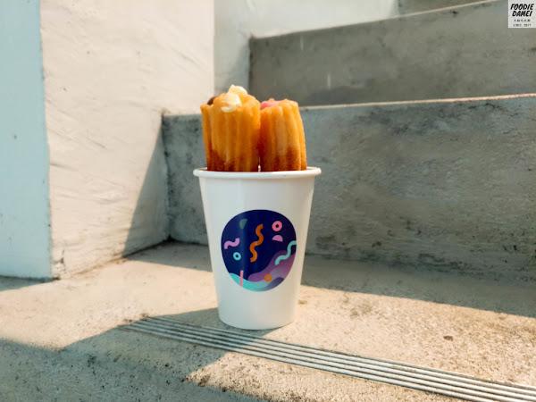 灰白色系打造而成。吉拿棒創意料理-CHURRO & Sweet