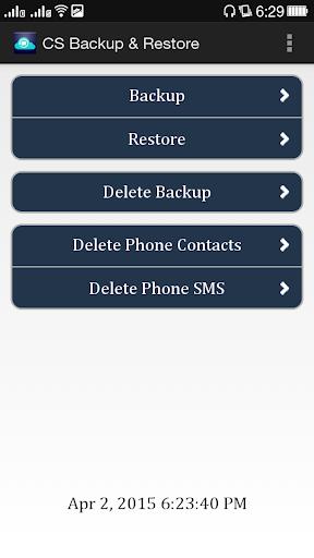 CS Backup Restore