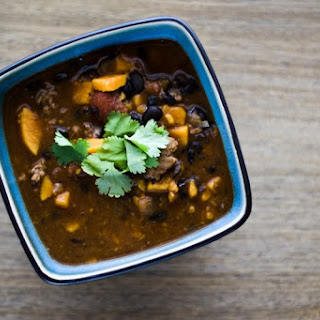 Pork & Black Bean Sweet Potato Chili