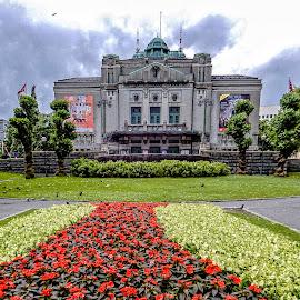 Red Line by Richard Michael Lingo - City,  Street & Park  City Parks ( theatre, flowers, city, norway, park )