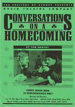 "Photo: Flyer for ""Conversations on a Homecoming"" by Tom Murphy"