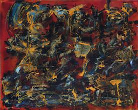 """Photo: """"Vent Solaire"""". Glycéro et acrylique sur toile. 40x50cm horizontal."""