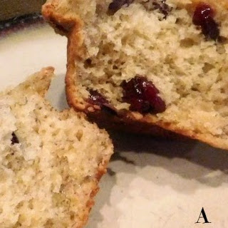 Banana Craisin Muffins with Streusel Topping.