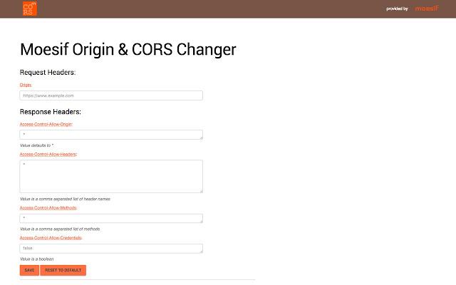 Moesif Orign & CORS Changer