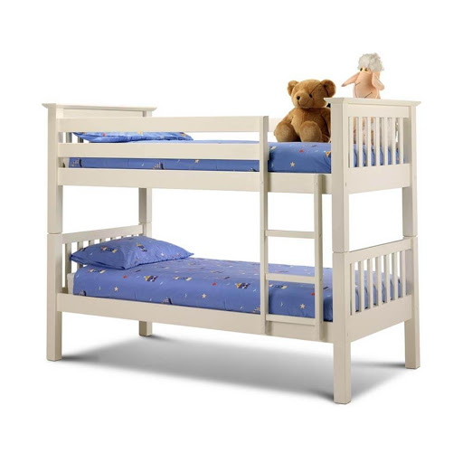 Julian Bowen Barcelona White Bunk Bed
