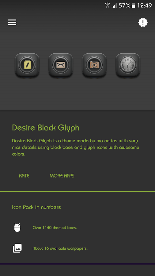 Desire Black Glyph- screenshot
