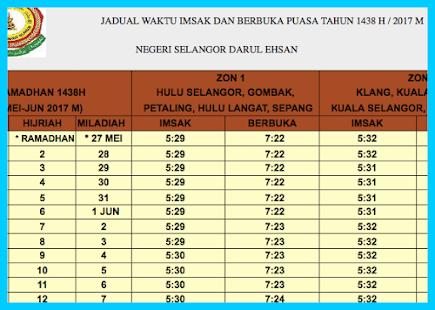 Waktu Solat Selangor Ramadhan Umpama H