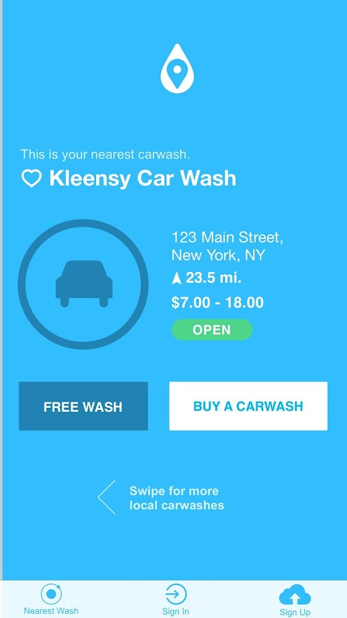 Car Wash Finder- screenshot