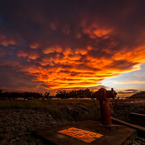 Amazing Sunset by Ismail Rali - Landscapes Sunsets & Sunrises ( clouds, sunset, cloudscape, sunrise, landscape )