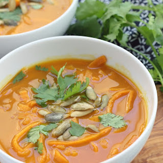 Pumpkin Coconut Curry with Sweet Potato Noodles
