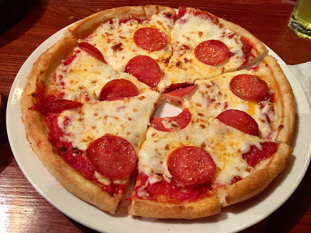 Pepperoni Pizza with a gluten free crust