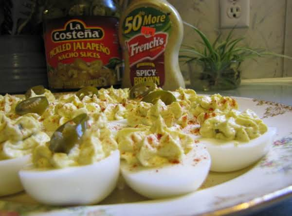 Oh Yeah, The Bite Is There: Southwestern Deviled Eggs