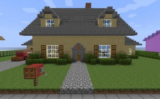 Building Ideas MCPE HOUSE MOD Screenshot