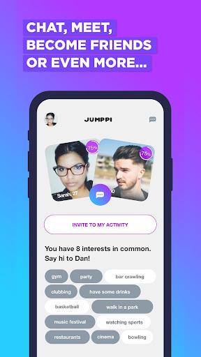Jumppi:Join fun hangouts.Find dates & Make friends screenshots 3