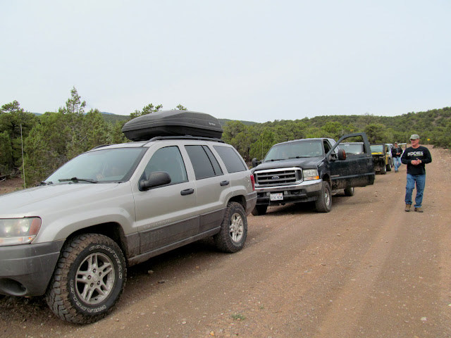 Convoy just before entering Capitol Reef National Park