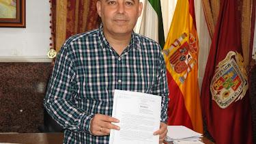 El alcalde de Huércal-Overa, Domingo Fernández, ayer.