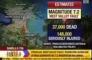 Magnitude 7.2 earthquake could leave 37,000 dead in Metro Manila, Rizal| Bandila Video