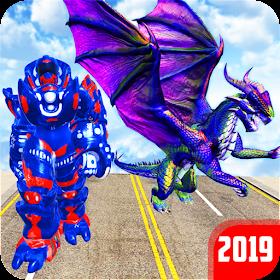 Grand US Dragon Robot Battle 3D