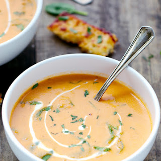 Creamy Tomato And Spinach Soup