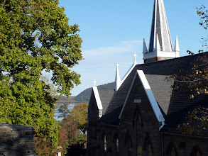 Photo: We turned off High St. to enter the Applachian Trail to climb a steep hill to St. Peter's Roman Catholic Church.