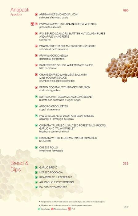 Trattoria, Vivanta By Taj President menu 7