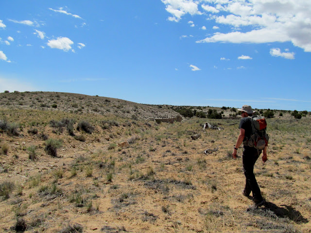 Hiking toward an unassuming canyon