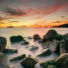 Kota Kinabalu Sunset by Andrew Micheal - Landscapes Waterscapes ( kota kinabalu, sunset, sunrise, waterscapes )