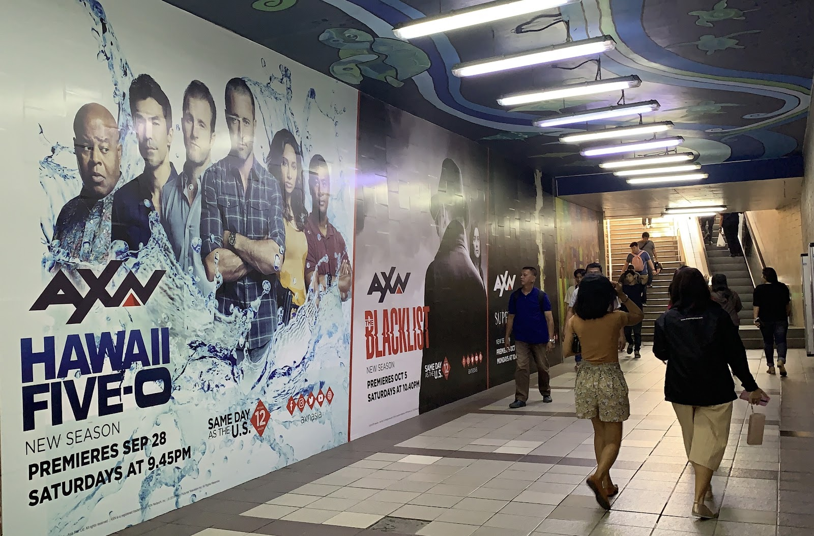 Sony AXN out of home advertisement ayala paseo underpass rsco 2019 philippines