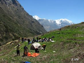 Photo: 5th day of the trek.. Camp at Bakri Thach (11,532 ft)