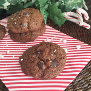 Chocolate-Chocolate Chip *Peppermint* Cookies