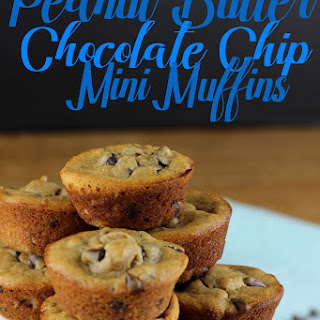 Peanut Butter Chocolate Chip Mini Muffins.